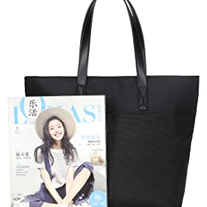 Spacious Oversized Utility Women Tote Bag Black Waterproof Oxford Slouchy Hobo Travel Shoulder Bag