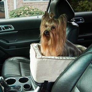Snoozer Console Car Seat Microfiber Pet Travel Safety Dog