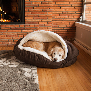 Cozy Cave, Snoozer Pet Products, Hooded Dog Bed, Nesting Pet Cave, Sherpa Cover,