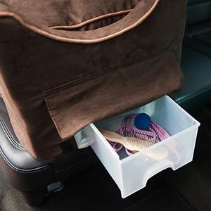 Snoozer, Lookout II Dog Car Seat, Storage Tray, Safety Strap, Pet Travel, Dog Car Seat