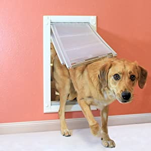 You will want to ensure that you install your door so that the top of the door sits at least 2  above your dogu0027s back. If you have two or more dogs ... & Amazon.com : eXtreme Dog - Endura Flap Medium (White) Wall Mount ... pezcame.com