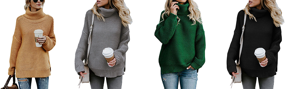 •Stylish sweaters are hot selling on those chilly days. four colors for  choose e60293dcf