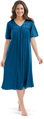 Ezi Women s Satin Silk Short Sleeve Lingerie Nightgown by at Amazon ... 10506a563