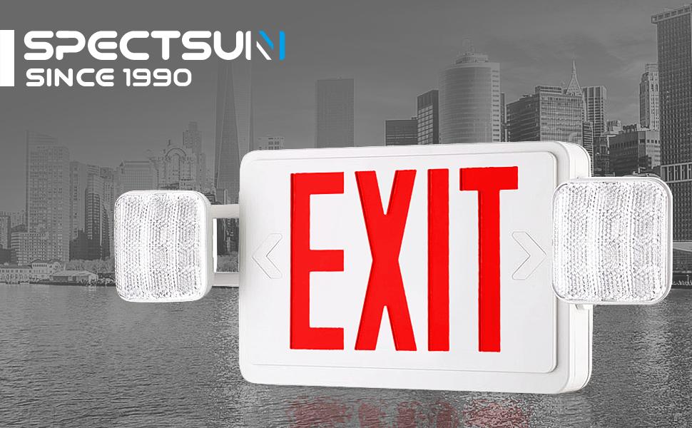 Amazon.com: SPECTSUN RED EXIT - Cartel con luz, Rojo, 4.20 ...