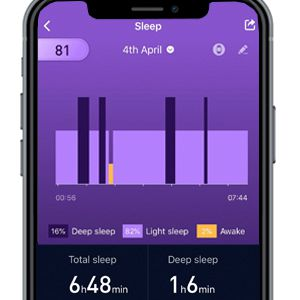 Fitness tracker with sleep monitor