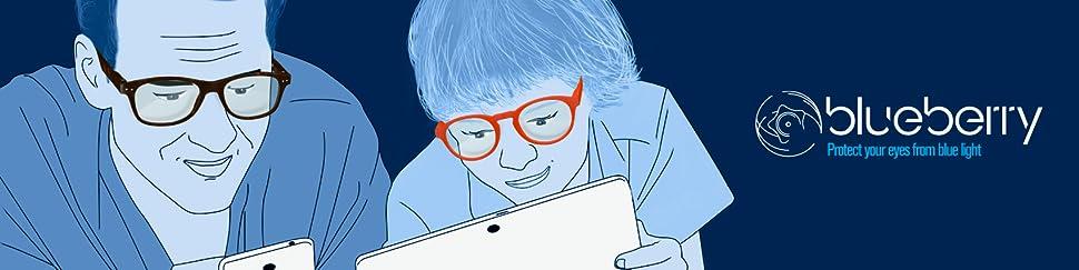 20070c67d76 Amazon.com  Blueberry Computer Glasses -S-Black - Clear Lenses ...