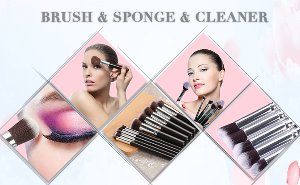 10+2 Black&Sliver Brush&Sponge