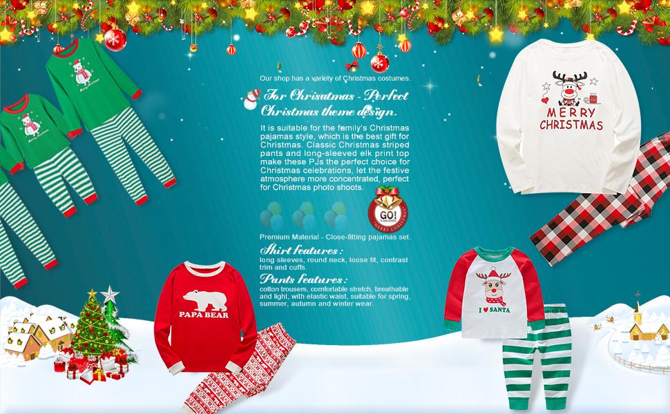 12ace8694a Amazon.com  Baywell Christmas Family Holiday Bear Warm Printed ...