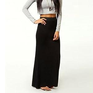 ce9b9b99f7 MBJ Womens Lightweight Floor Length Maxi Skirt - Made in USA at ...