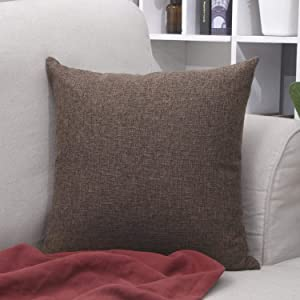 Bursonvic Farmhouse/Modern Burlap Throw Pillow Case Cushion Cover