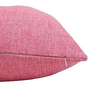 Bursonvic Cotton Linen Throw Pillow Cover