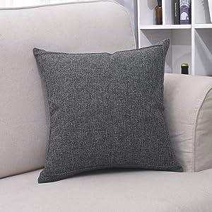 Bursonvic Farmhouse/Modern Burlap Throw Pillow Case Cushion Cover