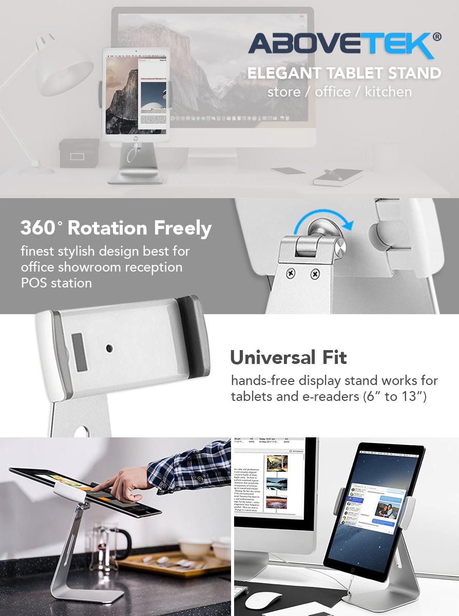 Amazon.com: AboveTEK Elegant Tablet Stand, Aluminum iPad Stand ...