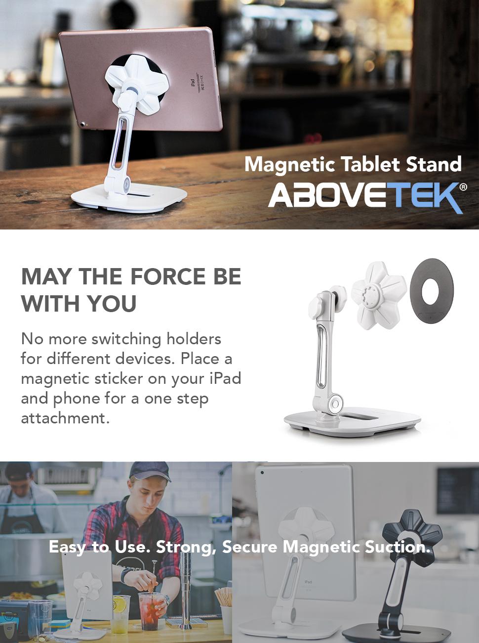 Amazon.com: AboveTEK Sleek Magnetic Tablet Stand, Aluminum iPad Cell ...