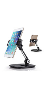 Tablet Stand, Cell Phone Stand, Folding iPad iPhone Desk Mount Holder Tablets/Smartphones