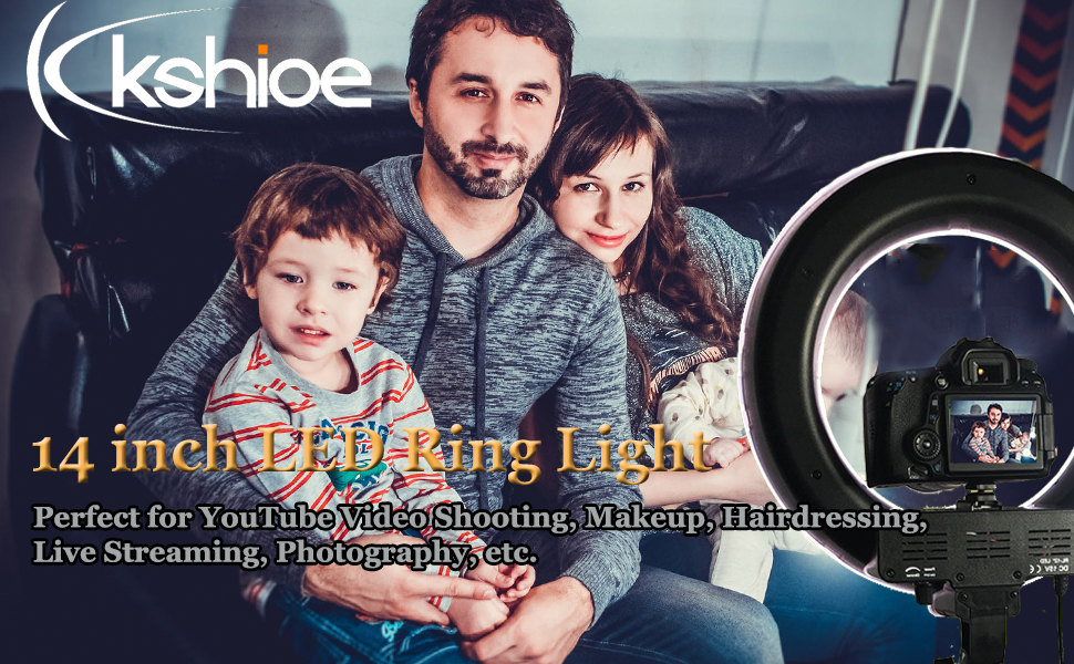 Flashandfocus.com c4195c4c-6f13-4adc-8fe2-67c58f9273fd._CR0,0,970,600_PT0_SX970__ Kshioe 14'' Dimmable Led Ring Light, Continuous Lighting Kit Photography Photo Studio Light for Makeup, Camera…