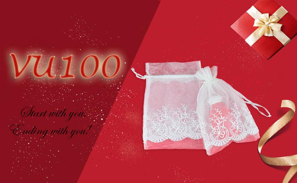 ff556bd199ff Amazon.com: VU100 Organza Bags 6x9 Drawstring Gift Bags, Premium ...