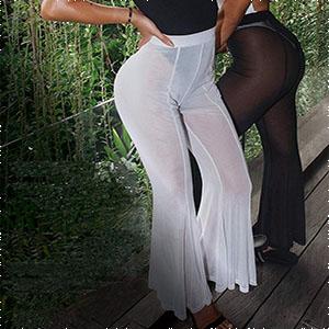Flare bikini cover ups bottom pants