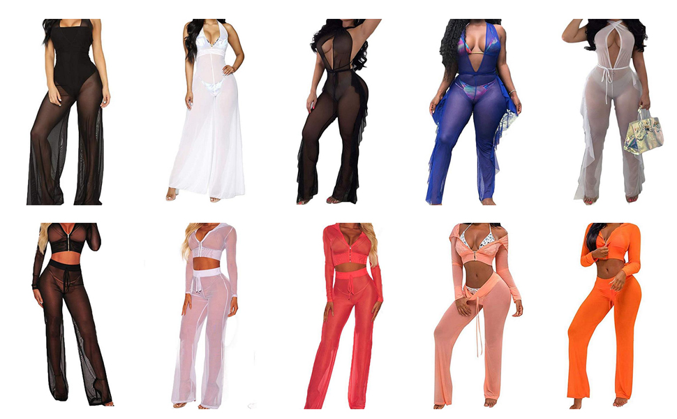 women 2 pieces outfits bikini cover ups swimsuits