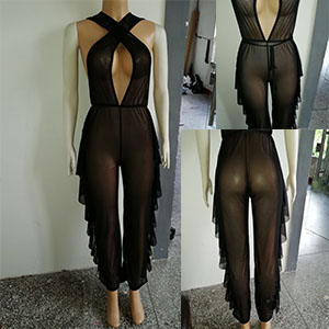 halter bikini cover up jumpsuits