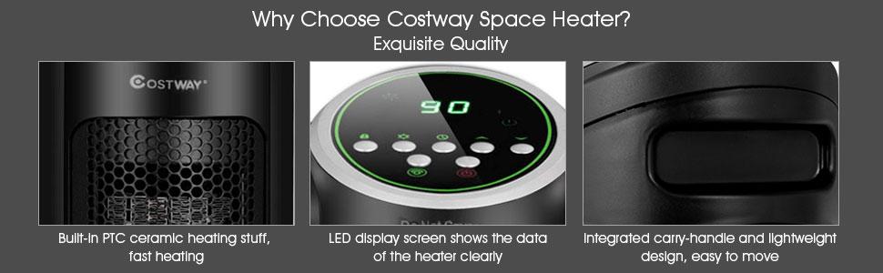 25125413349 Amazon.com  COSTWAY Ceramic Space Heater