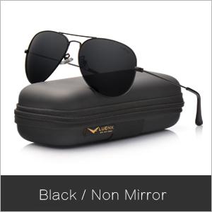 98891fd56ce Amazon.com   LUENX Aviator Sunglasses Polarized Mens Womens Black ...