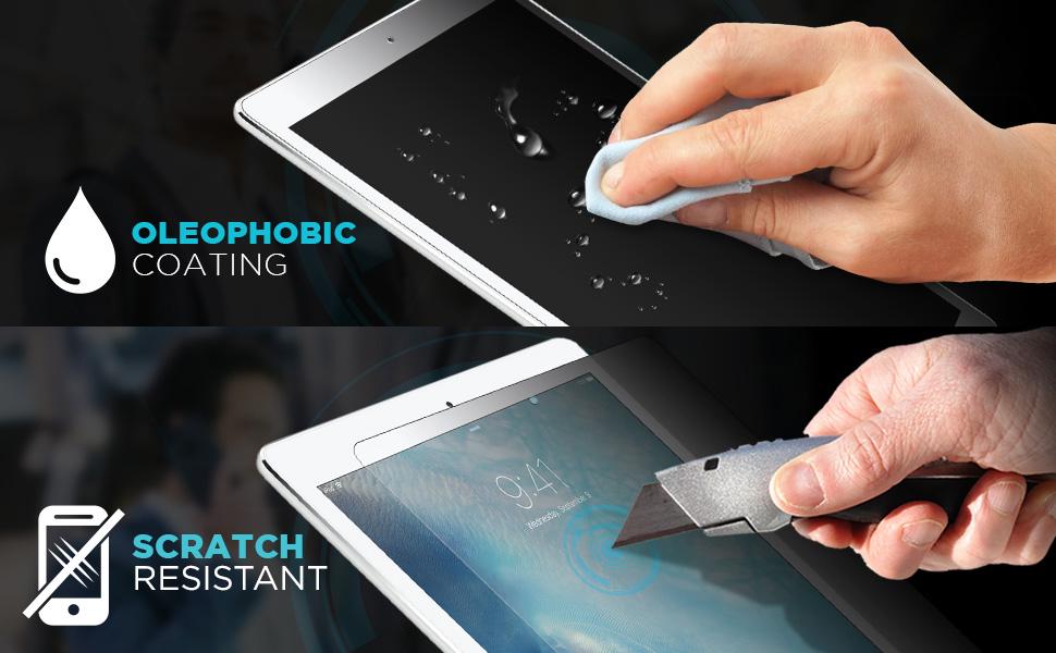 ipad 9.7 air air 2 privacy film screen protector pet black scratch resistant oleophobic 4way