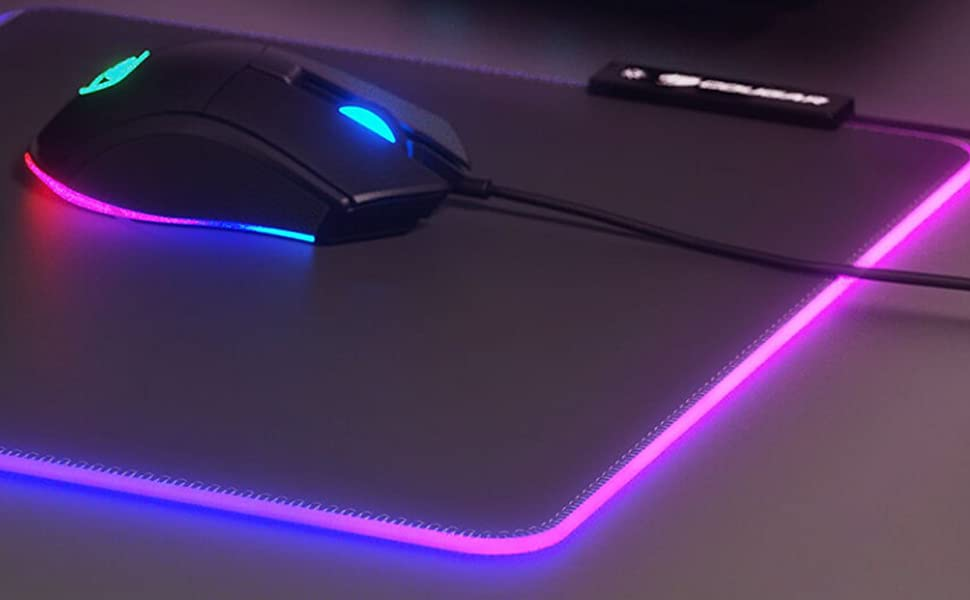 Neon mouse pad