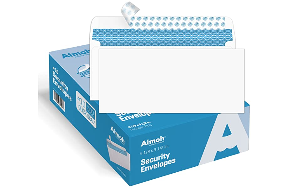 Premium White Letter Mailing Envelopes 4-1//8x9-1//2 Inch Office Bussiness 500...