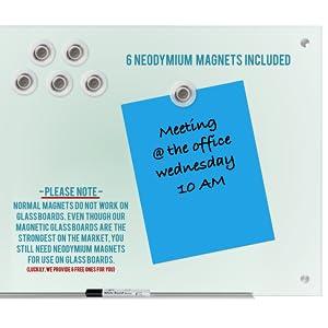 glass board whiteboard magnetic neodymium