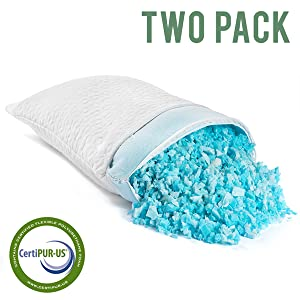 clover pillow gel Shredded Memory Foam Pillows For Sleeping Bamboo Cooling real copy