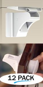 12 Pack Magnetic Locks