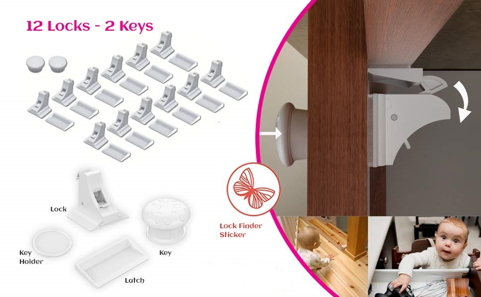 12 pack locks with 2 keys enough to secure entire home without sacrificing the beauty of your home