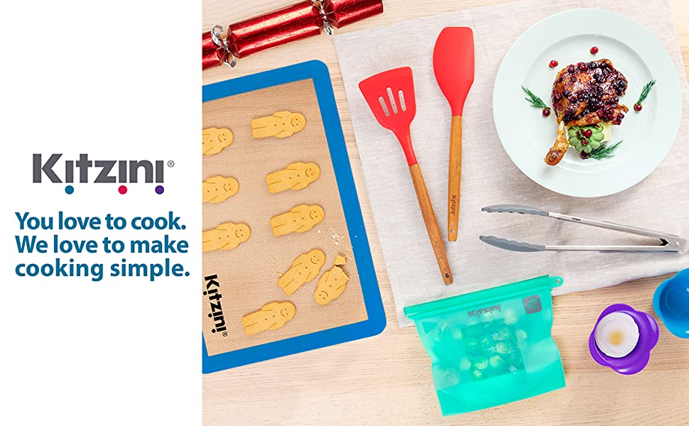 baking holiday accessories cooking utensils silicone baking mat tongs food bags sandwich egg poacher