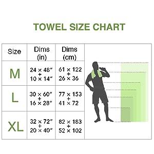 towel size