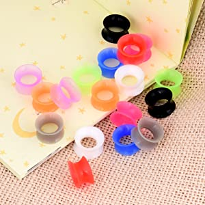 soft silicone ear tunnels and plugs set