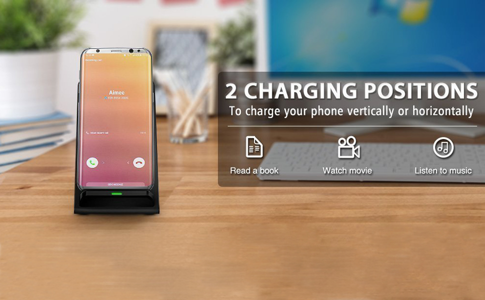 Site Phone on the Center Port of Wireless Charger