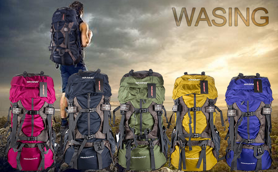 Amazon.com : WASING 55L Internal Frame Backpack for