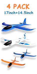 4 pcs Airplane 17inch and 13.5inch