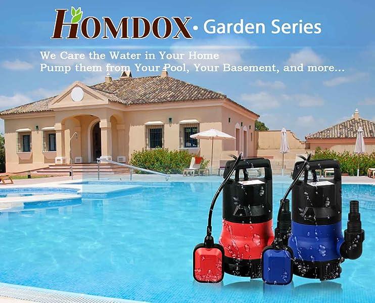 Homdox 1 2 Hp Submersible Sump Pump 400w Dirty Clean Water