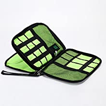 First layer Electronic Travel Organizer Tech Equipment Pouch Chargering Cable Bag Backpack image