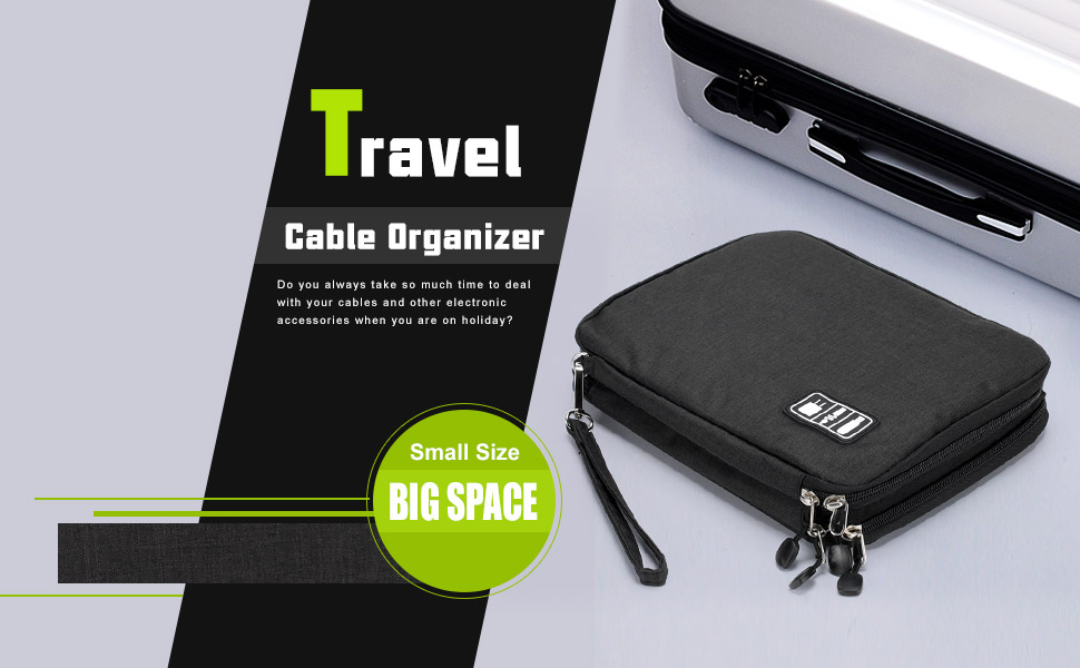Portable   Travel Electronic Organizer for Cables banner