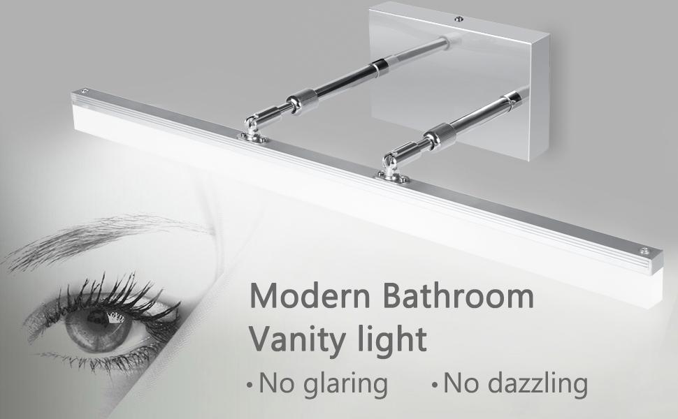 Led Bathroom Vanity Lights Fixture Adjustable 23 6 Inch Extended 1400lm Modern Vanity Mirror Lighting Wall Light 6000k Stainless Steel Vanity Lights Tools Home Improvement