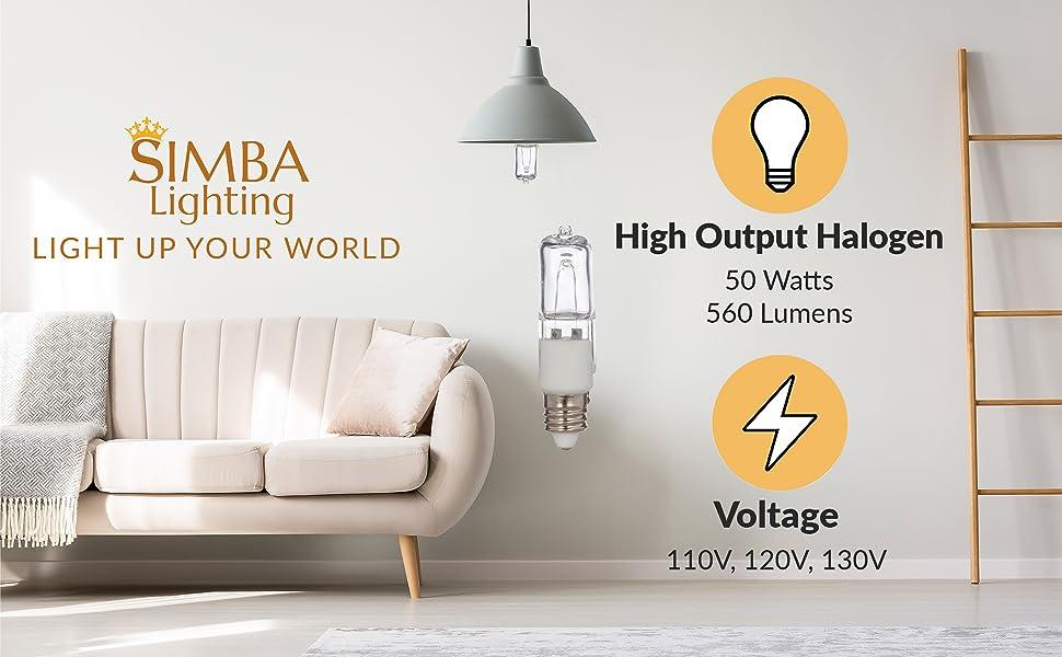 simba lighting halogen e11 50w