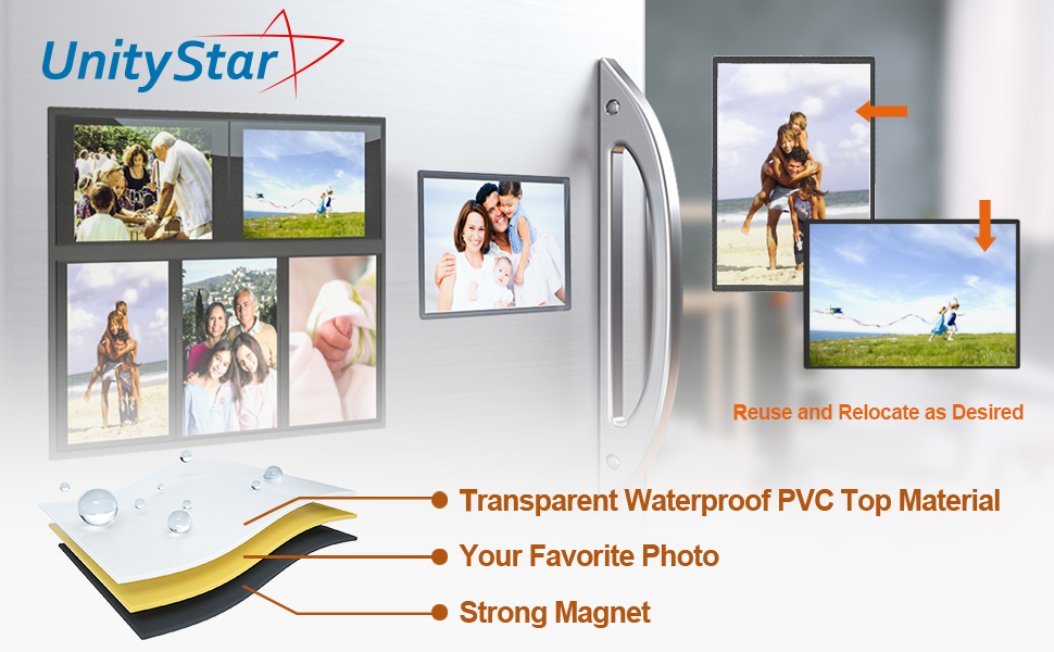 Amazon.com - UnityStar 10-Pack 4x6 Magnetic Picture Frames for ...