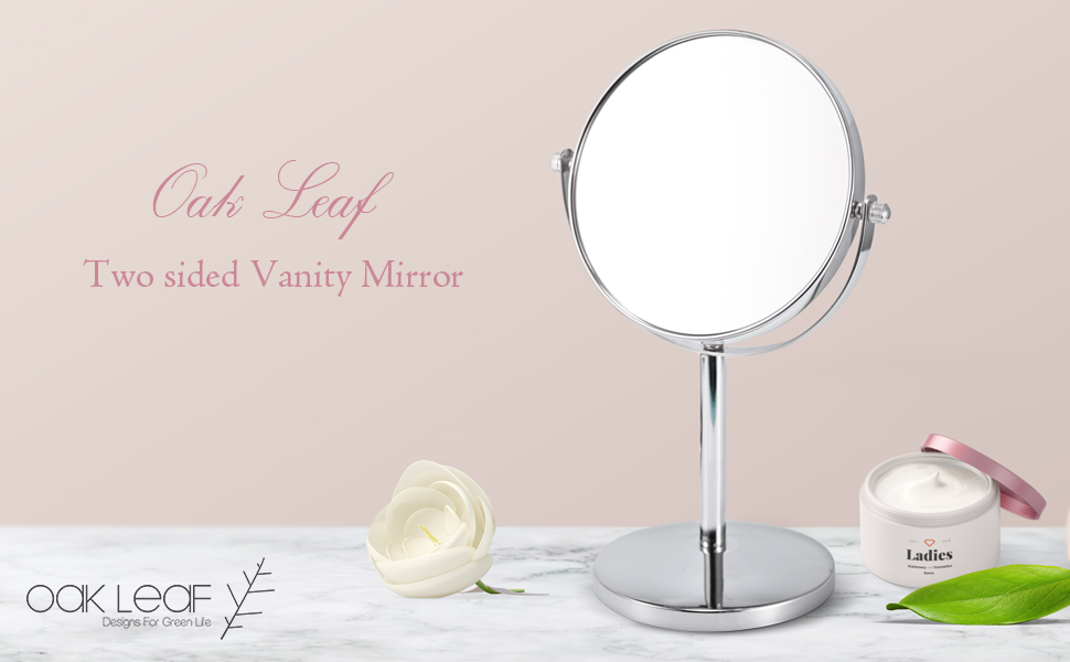 How Cool And Practical Is This Double Sided Magnifying Make Up Mirror?  Features Elegant Collection 5x Magnification On One Side, Regular View On  Another ...