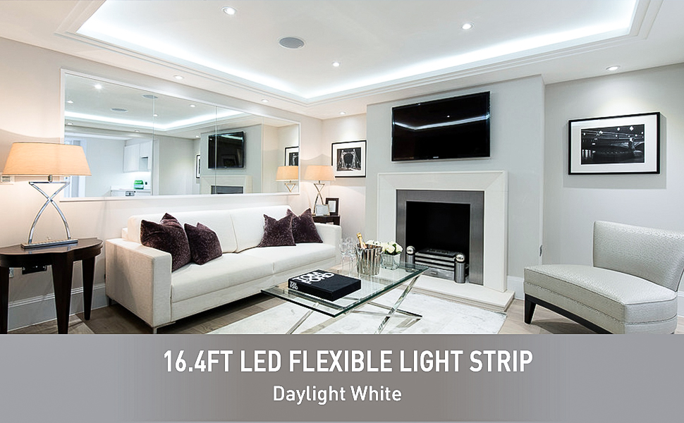 Amazon oak leaf 164ft waterproof flexible led strip lights300 dont you think that your room and your office are a little bit common and monotonous the oak leaf 2835 smd strip lights really surprise you aloadofball Images