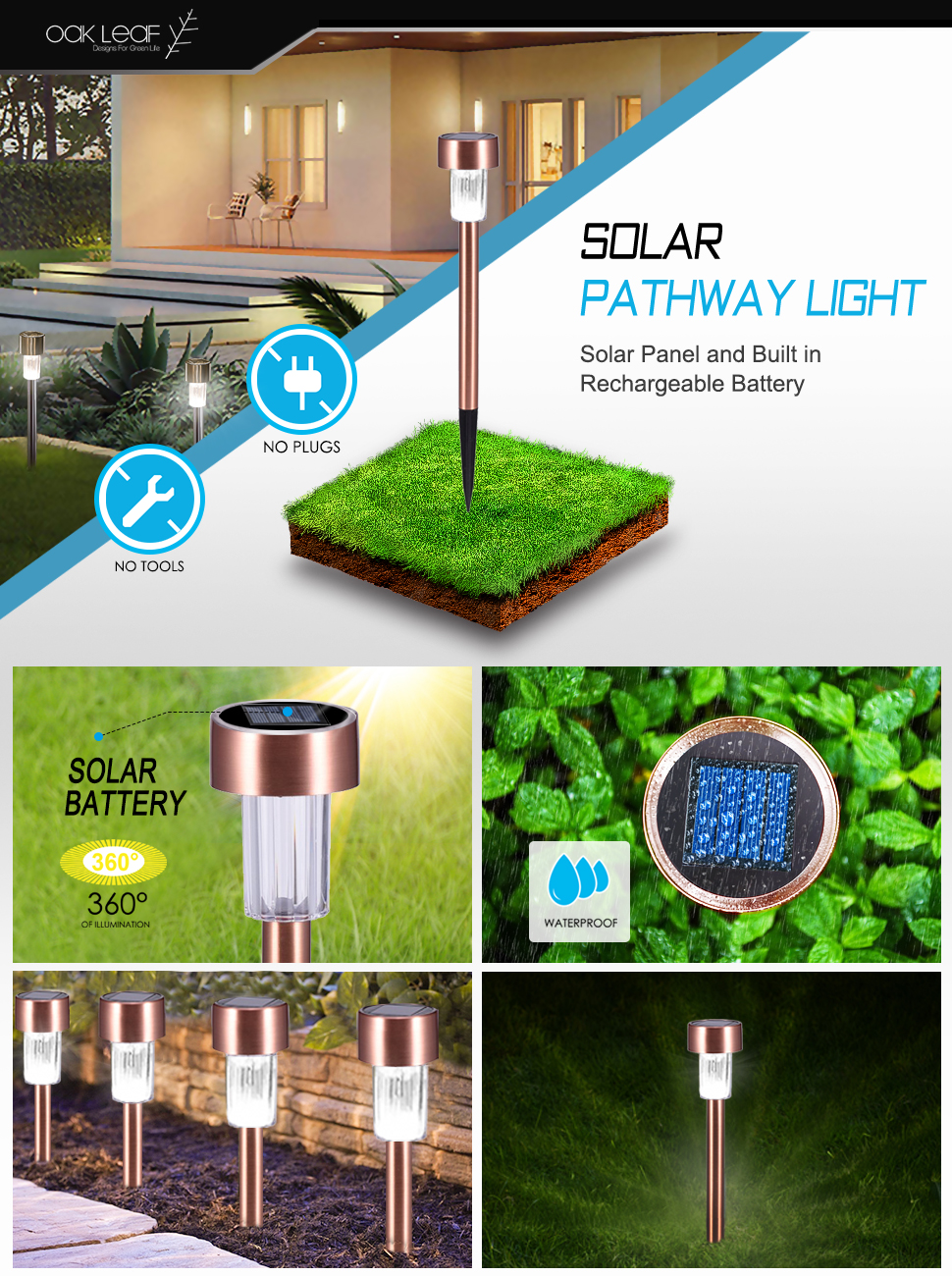Solar Pathway Lights Oak Leaf Outdoor Led Landscape Sunny Light Gardensolar Yard Powered Lighting Looking For A Low Voltage Path Better Make It Then You Got This Charges During Daytime And