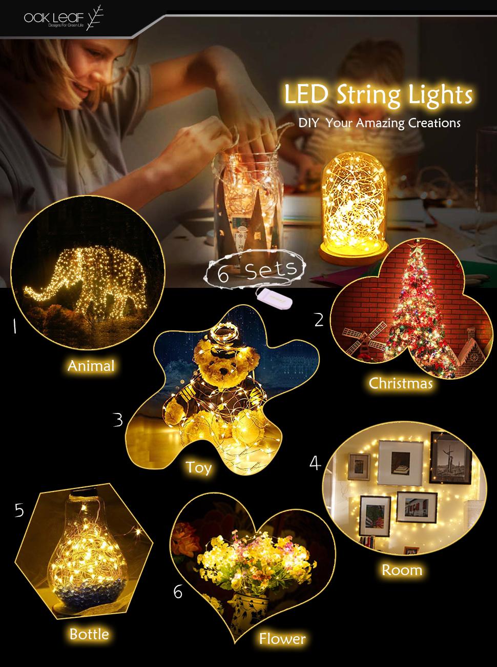 Diy flower string lights - Product Description