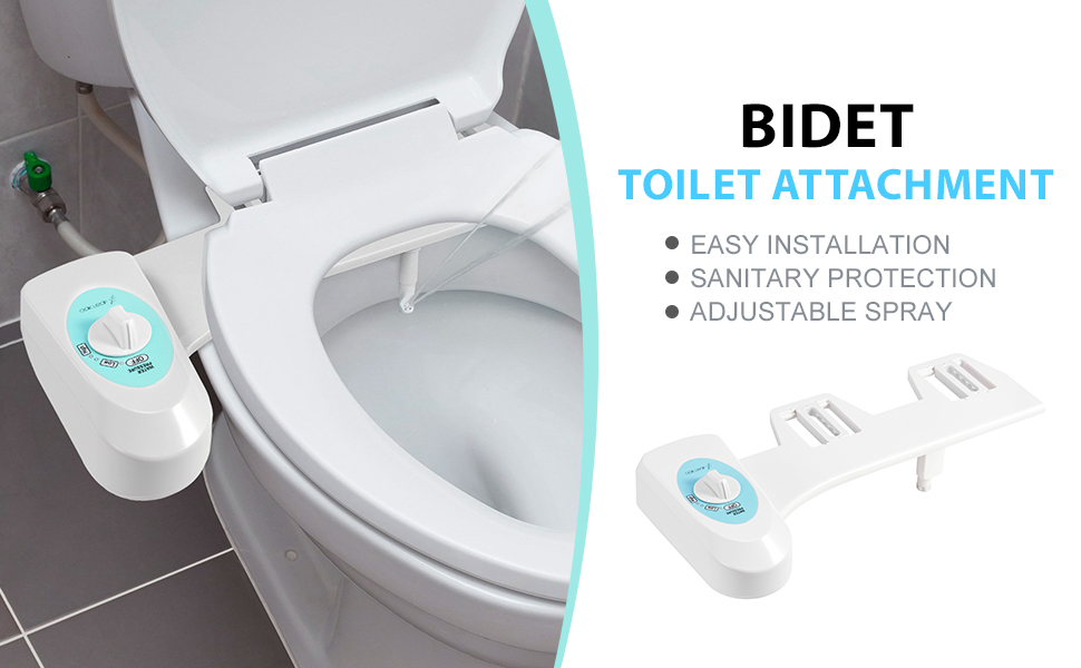 Bidet Toilet Attachment Fresh Water Spray Nonelectric Mechanical